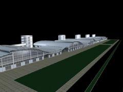 3d车站建筑模型