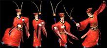 祭祀舞蹈-八俏舞,带绑定动画模型