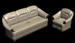 真皮沙发3D模型