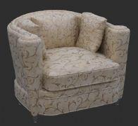 欧式花纹沙发椅3D模型