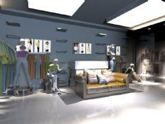 3D服装店效果图