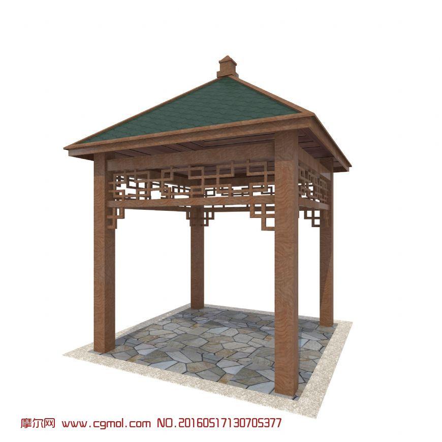 标签:四角亭凉亭园林小品景观防腐木中式图片