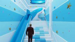 鲨鱼滑梯,鲨鱼馆入口