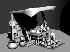 陶罐店铺,游戏小场景