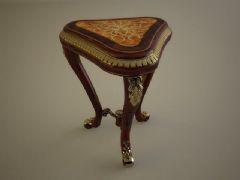 古典三脚矮凳3D模型