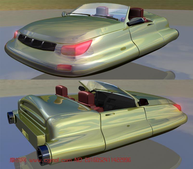 敞篷飞车,材质调好的,可用于卡通动画