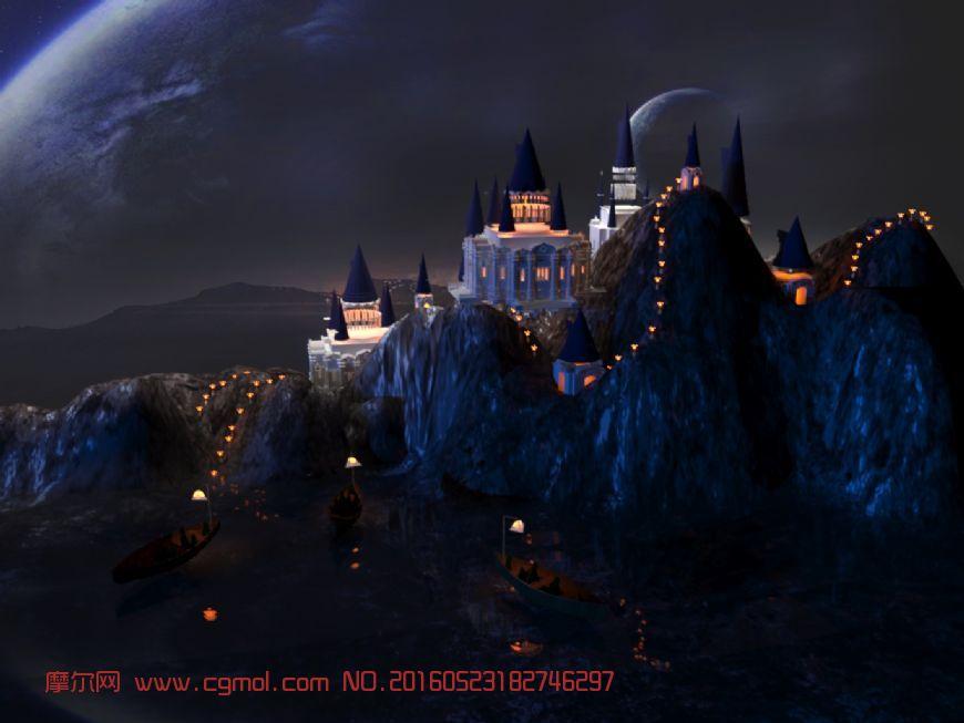 夜晚场景图片素材