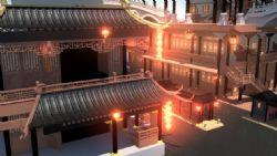古代灯红酒绿青楼场景maya模型