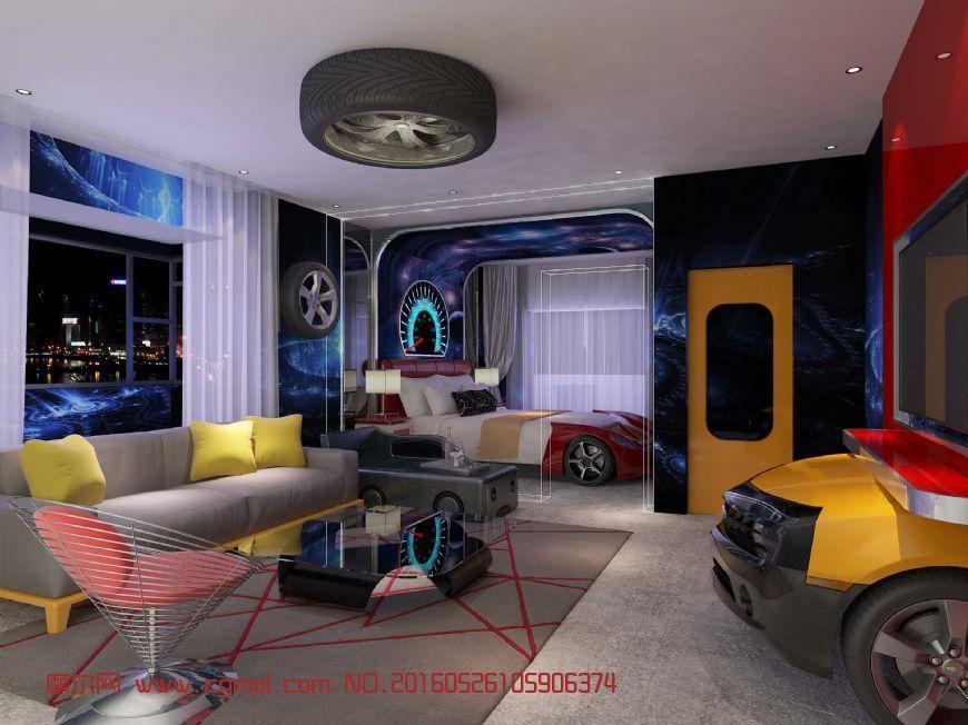 室内模型 整体效果  标签:汽车酒店室内设计客厅跑车 作品描述:丢失