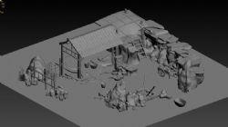 3渲2的矿石场场景模型