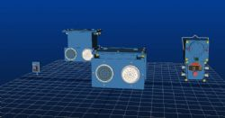 煤矿声光报警装置maya模型