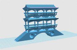 风雨桥3D打印文件