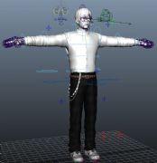 男孩maya模型,带绑定