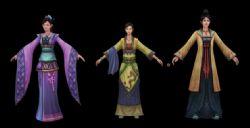 3个女仆,古代女