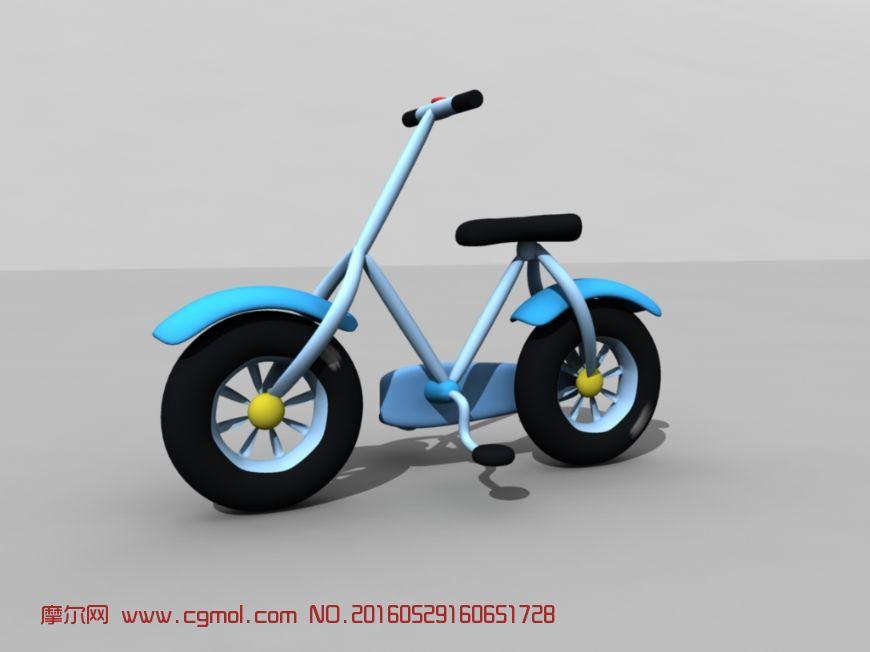 作品描述:这是一款q版自行车,卡通又可爱,适合小孩子骑行