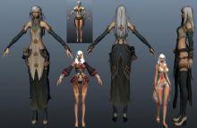 《剑灵》4款女角色3D模型,max,obj,部分mb格式
