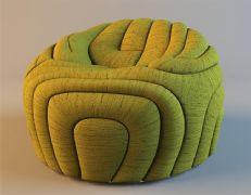回型沙发椅3D模型