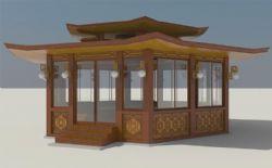 古典休息凉亭3D模型