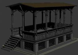 复古观景台3D模型
