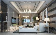后现代客厅模型