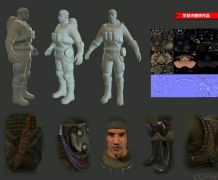 次时代战士maya模型,贴图齐全