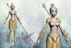 黄衣女战士,性感游戏女角色
