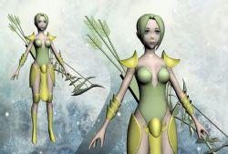 游戲角色,女性,盔甲武器