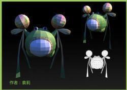 可爱的绿豆蛙obj模型