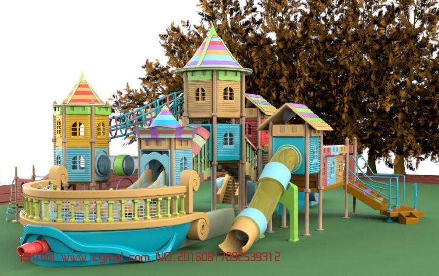 室外儿童游乐场,max,fbx两种格式