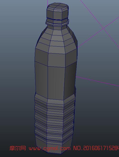 农夫山泉矿泉水瓶maya模型,无贴图图片