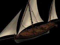 一只精细的船