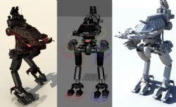 战斗机甲maya模型