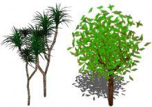 两棵树的su素材