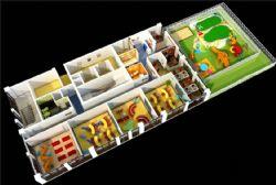 幼儿园鸟瞰设计