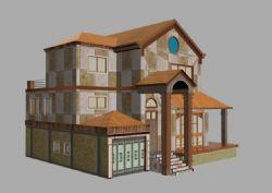 新疆风格的简易别墅