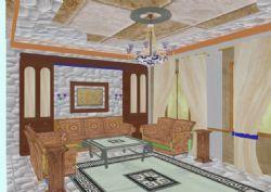 异域风情风格的客厅室内图