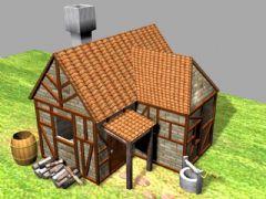 老游戏 帝国时代2 欧式房子