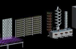 无土营养栽培实验支架3D模型