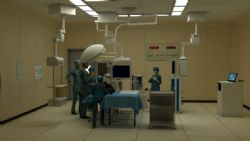 医院手术室抢救低模,带贴图,展开UV