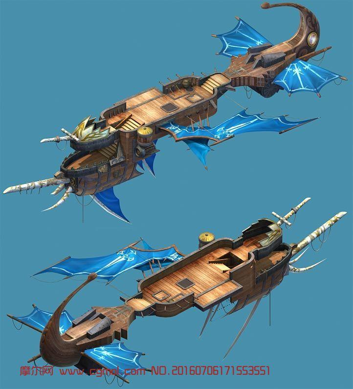 英雄无敌中的高精度飞船3D模型