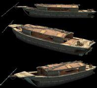 超精细古代商船,盐船,运输船只3D模型