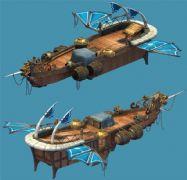 高模!古代飞行船,可以飞的船3D模型