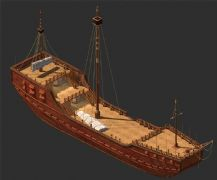 古代官员的出行帆船模型