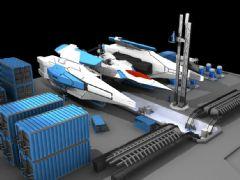 未来战舰维修区场景3D模型,max,obj两种格式