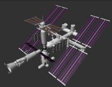maya设计制作的国际空间站模型