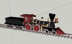 火车头su模型