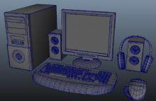 整套配置的台式电脑