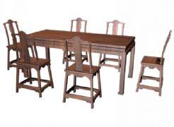拐子纹餐桌+拐子纹靠背倚