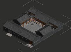 四合院模型