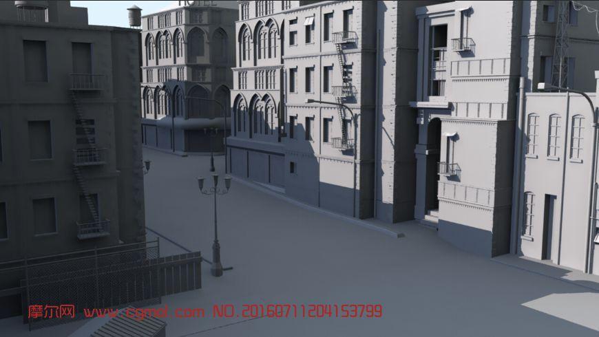 转载: 欧式街道场景